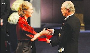 Meditation and Aging: Elizabeth Blackburn is shown receiving her Noble Prize