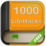 The 1000 life hacks App icon is shown.