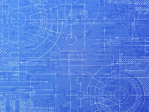A blueprint diagram is show n to exemplify how creating life balance is similar to an architect creating a building.