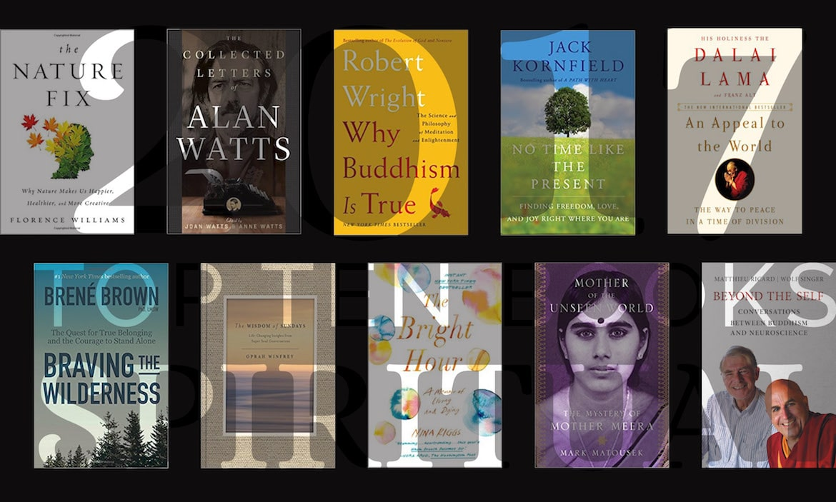 Book Cover Collage Quest ~ The top spirituality books of balanced achievement