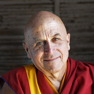 A headshot image is shown of the iconic Buddhist monk Matthieu Ricard.